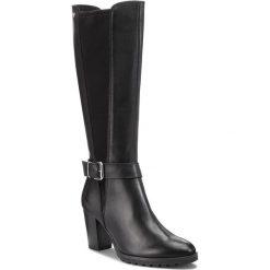 Kozaki CAPRICE - 9-25611-21 Black Comb 019. Czarne buty zimowe damskie Caprice, z materiału, przed kolano, na wysokim obcasie, na obcasie. W wyprzedaży za 359,00 zł.