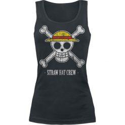 Topy damskie: One Piece Straw Hat Crew Top damski czarny