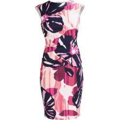 Karen Millen COLOURFUL FLOWER SIGNATURE Sukienka etui multicoloured. Różowe sukienki Karen Millen, z acetatu. W wyprzedaży za 474,50 zł.