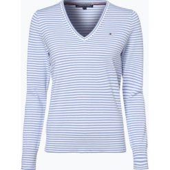 Tommy Hilfiger - Sweter damski – New Ivy, niebieski. Niebieskie swetry klasyczne damskie TOMMY HILFIGER, m, z bawełny. Za 449,95 zł.