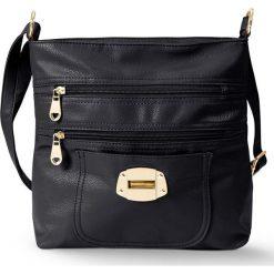 Torebka na ramię z ozdobnym zapięciem bonprix czarny. Czarne torebki klasyczne damskie bonprix. Za 89,99 zł.