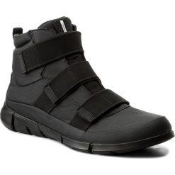 Botki ECCO - Intrinsic 1 86006301001  Black. Czarne buty zimowe damskie ecco, z materiału. W wyprzedaży za 389,00 zł.