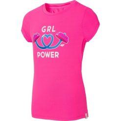Bluzki dziewczęce: Koszulka sportowa dla małych dziewczynek JTSD300C – fuksja neon