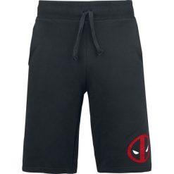 Deadpool Logo Krótkie spodenki czarny. Czarne spodenki dresowe męskie marki bonprix, w paski. Za 121,90 zł.
