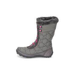 Śniegowce Dziecko Columbia  YOUTH MINX MID II WATERPROOF OMNI-HEAT. Czarne buty zimowe chłopięce marki Superfit, z gore-texu, przed kolano, na wysokim obcasie. Za 285,00 zł.