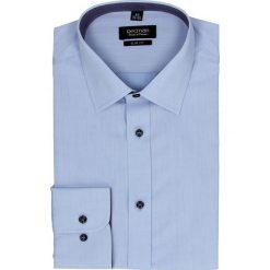 Koszula bexley 2361 długi rękaw slim fit niebieski. Niebieskie koszule męskie na spinki Recman, m, z aplikacjami, z bawełny, z klasycznym kołnierzykiem, z długim rękawem. Za 129,00 zł.