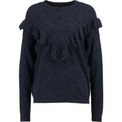 Swetry klasyczne damskie: YAS YASLORY FLOUNCE Sweter night sky
