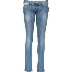 """Spodnie z wysokim stanem: Dżinsy """"Piper Slim"""" w kolorze niebieskim"""