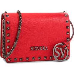 Torebka SCA'VIOLA - T-23 Red. Czerwone torebki klasyczne damskie marki Reserved, duże. W wyprzedaży za 319,00 zł.