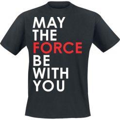 T-shirty męskie z nadrukiem: Star Wars Episode 8 – Die letzten Jedi – May The Force Be With You T-Shirt czarny