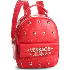 Plecak VERSACE JEANS - E1VSBBE7 70778 331. Czerwone plecaki damskie Versace Jeans, z jeansu, eleganckie. Za 789,00 zł.