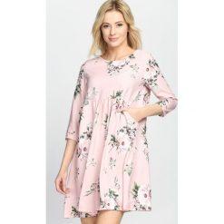 Sukienki: Różowa Sukienka Full Flower