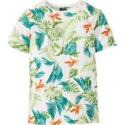 T-shirty męskie: T-shirt Slim Fit bonprix biel wełny z nadrukiem