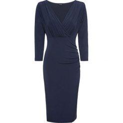 Sukienka bonprix ciemnoniebieski. Brązowe sukienki balowe marki Mohito, l, z kopertowym dekoltem, kopertowe. Za 89,99 zł.