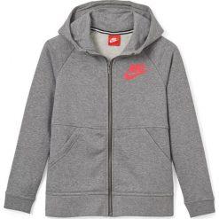 Bluza z kapturem, zapinana na zamek. Szare bluzy dziewczęce rozpinane marki Nike, z bawełny, z długim rękawem, długie, z kapturem. Za 272,96 zł.