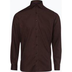 Finshley & Harding - Koszula męska, brązowy. Szare koszule męskie na spinki marki S.Oliver, l, z bawełny, z włoskim kołnierzykiem, z długim rękawem. Za 129,95 zł.