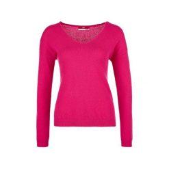 S.Oliver Sweter Damski 38 Różowy. Czerwone swetry klasyczne damskie S.Oliver, s, dekolt w kształcie v. W wyprzedaży za 254,00 zł.