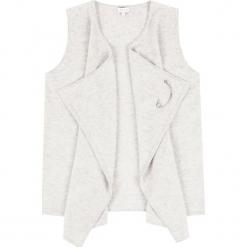 """Kamizelka """"Charlene"""" w kolorze kremowym. Białe kamizelki damskie marki Ateliers de la Maille, z kaszmiru. W wyprzedaży za 409,95 zł."""