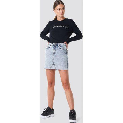 b287022393336 Calvin Klein Bluza Institutional Logo - Black - Czarne bluzy damskie ...