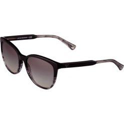 Emporio Armani Okulary przeciwsłoneczne black/striped grey. Czarne okulary przeciwsłoneczne damskie lenonki Emporio Armani. Za 509,00 zł.