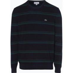 Lacoste - Sweter męski, niebieski. Szare swetry klasyczne męskie marki Lacoste, z bawełny. Za 649,95 zł.