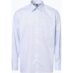 Koszule męskie na spinki: Eterna Comfort Fit - Koszula męska niewymagająca prasowania, niebieski