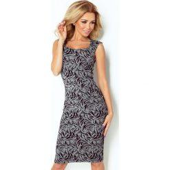 Sukienki: Kornelia Dopasowana sukienka – żakard TYGRYS