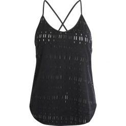 Under Armour Top black. Czarne topy sportowe damskie marki Under Armour, xl, z materiału. W wyprzedaży za 146,30 zł.