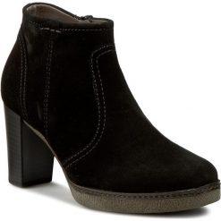 Botki GABOR - 55.756.17 Schwarz. Czarne buty zimowe damskie marki Gabor, z materiału, na płaskiej podeszwie. W wyprzedaży za 319,00 zł.