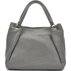 Torebki klasyczne damskie: Skórzana torebka w kolorze szarym – (S)22 x (W)33 x (G)11 cm