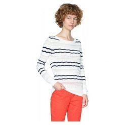 Swetry klasyczne damskie: Desigual Sweter Damski Xs Biały