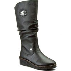 Kozaki RIEKER - Y4668-00 Schwarz. Czarne buty zimowe damskie marki Rieker, z materiału. Za 399,00 zł.