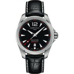 PROMOCJA ZEGAREK CERTINA DS Action C032.851.16.057.01. Czarne zegarki męskie CERTINA, szklane. W wyprzedaży za 1575,20 zł.