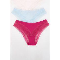 Majtki damskie: 3 pack majtek typu figi – Różowy
