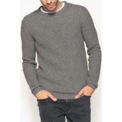 Swetry damskie: Sweter z okrągłym dekoltem, fantazyjna dzianina