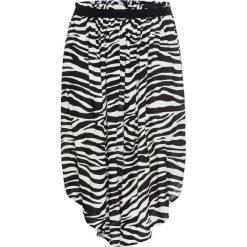 Szeroka spódniczka midi bonprix Zebra. Szare spódniczki bonprix, z motywem zwierzęcym, midi. Za 44,99 zł.