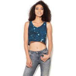 Colour Pleasure Koszulka damska CP-035 194  niebiesko-czarna r. XS-S. Różowe bluzki damskie marki Colour pleasure. Za 64,14 zł.