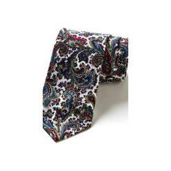 Krawat męski w kratkę MOGUER. Szare krawaty męskie HisOutfit, w kratkę, z materiału. Za 129,00 zł.