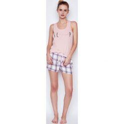 Etam - Top piżamowy Aime. Niebieskie piżamy damskie marki Etam, l, z bawełny. W wyprzedaży za 29,90 zł.