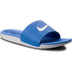 Klapki NIKE - Kawa Slide 832646 410 Hyper Cobalt/White/Wolf Grey. Niebieskie klapki męskie Nike, z materiału. W wyprzedaży za 129,00 zł.