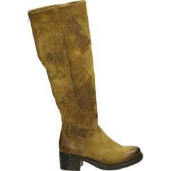 Kozaki - 261315 SENAPE. Brązowe buty zimowe damskie Venezia, ze skóry. Za 679,00 zł.