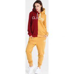 Naoko - Bluza Cliche Soleil Rouge. Pomarańczowe bluzy z kapturem damskie marki NAOKO, l, z nadrukiem, z bawełny. W wyprzedaży za 199,90 zł.