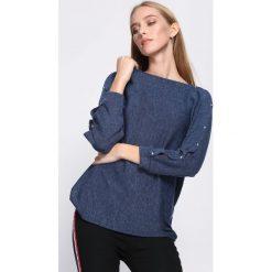 Granatowa Bluzka Concurrence. Niebieskie bluzki longsleeves Born2be, uniwersalny. Za 59,99 zł.