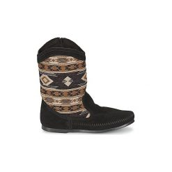 Kozaki Minnetonka  BAJA WOVEN BOOT. Czarne buty zimowe damskie Minnetonka. Za 347,40 zł.