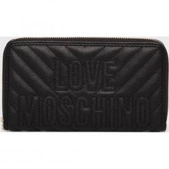 Love Moschino - Portfel. Czarne portfele damskie Love Moschino, z materiału. Za 439,90 zł.