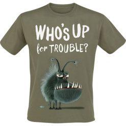 T-shirty męskie z nadrukiem: Minions Who's Up Kyle T-Shirt oliwkowy