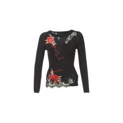 Swetry Desigual  GERCE. Szare swetry klasyczne damskie marki Desigual, l, z tkaniny, casualowe, z długim rękawem. Za 307,30 zł.