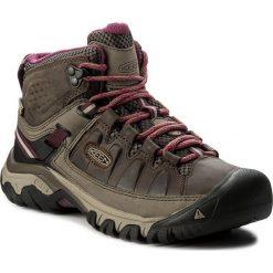 Trekkingi KEEN - Targhee III Mid Wp 1018178  Weiss/Boysenberry. Brązowe buty trekkingowe damskie Keen. W wyprzedaży za 359,00 zł.