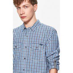 Koszula w drobną kratę - Niebieski. Niebieskie koszule męskie marki Cropp, l. W wyprzedaży za 39,99 zł.