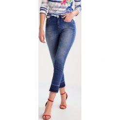 Opus EBBY Jeansy Slim Fit authentic blue. Niebieskie jeansy damskie Opus, z bawełny. W wyprzedaży za 194,35 zł.